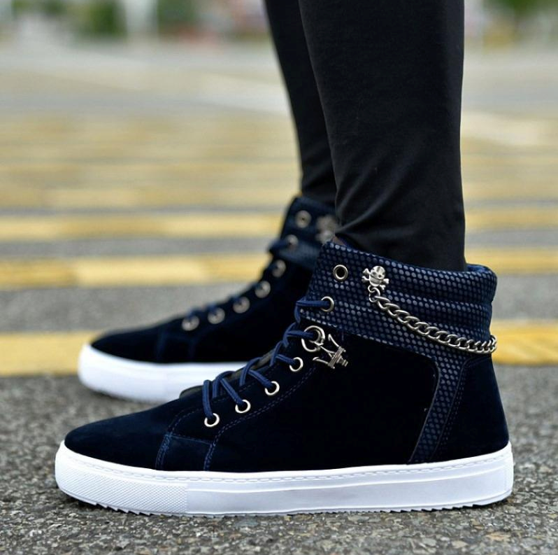 Paushaak Premium Chain Design High Top Sneakers