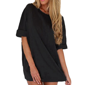 Plus Size Casual Beach T Shirt Dress - Courbee Boutique