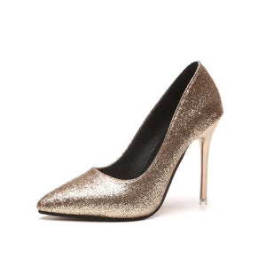 Sexy Gold Silver High Heels - Courbee Boutique