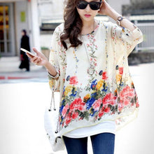Plus Size Casual Chiffon Blouse - Courbee Boutique