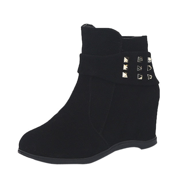 Platform Wedge Heel Boots - Courbee Boutique