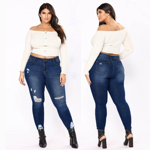 Plus Size Skinny Jeans - Courbee Boutique