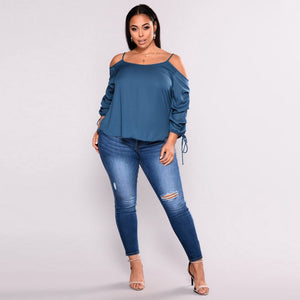 Plus Size High Waist Skinny Jeans - Courbee Boutique
