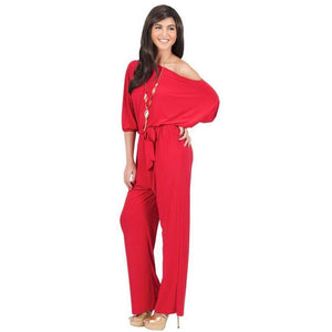 Plus size Sexy Off Shoulder Jumpsuit - Courbee Boutique