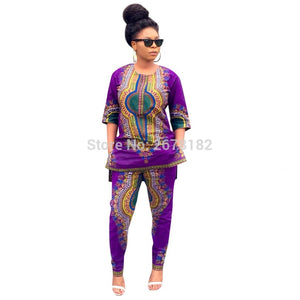 Plus Size African printed women suit - Courbee Boutique