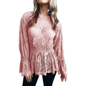 Plus Size Sexy Lace Casual Top - Courbee Boutique