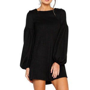 Plus Size Sexy Long Sleeve Knit Mini Party Dress - Courbee Boutique