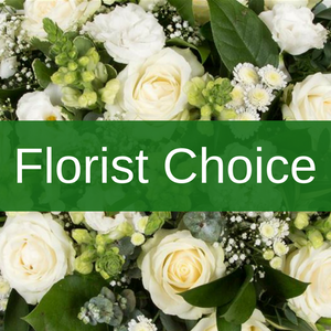 Florist's Choice Bouquet Greens and Whites with Lilies