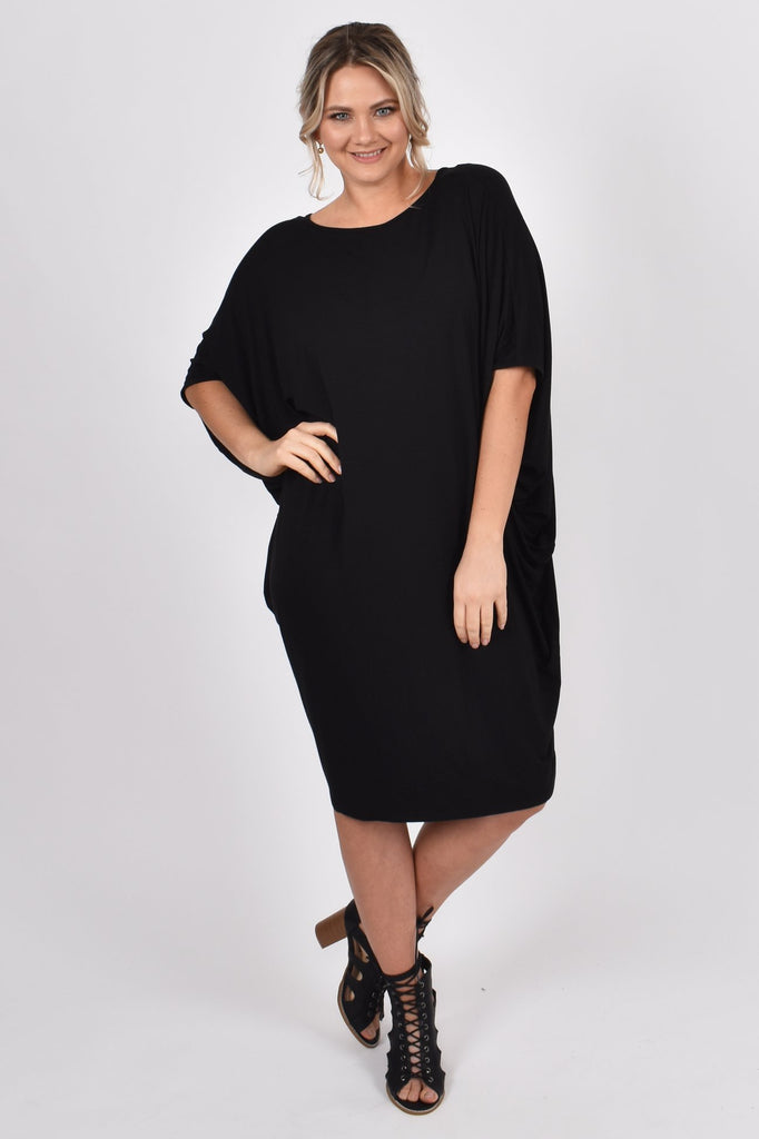 PQ Collection Miracle Dress Black Short sleeved