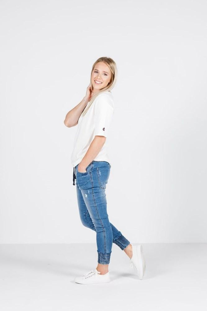 Home-Lee Weekender Jeans - Blue wash