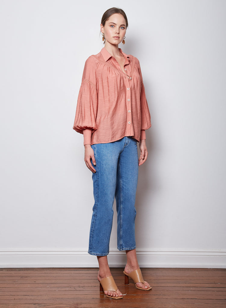 Wish Hourglass Shirt - Rust