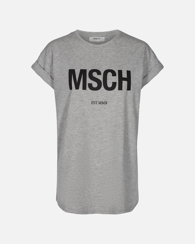 MSCH Light Grey/Black Tee MSCH Logo