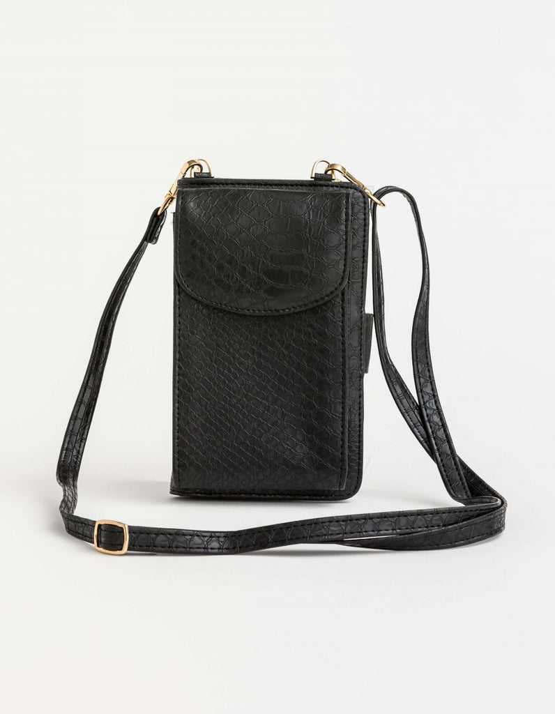 Stella + Gemma X Body Phone Wallet - Black
