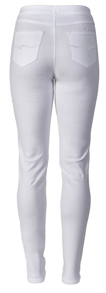 Vassalli Luxe Full length skinny leg pull on pants - White