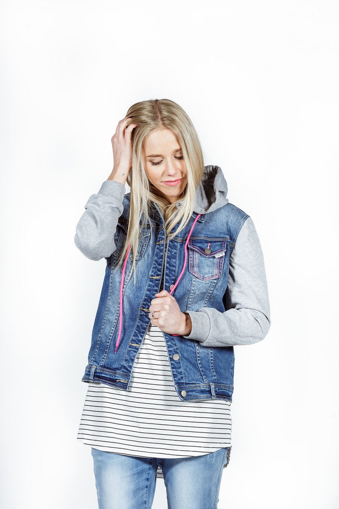 Home-lee Hooded Denim Jacket
