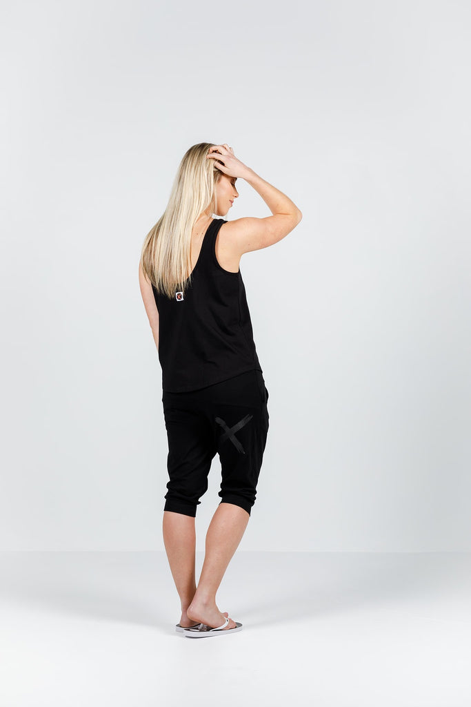 Home-lee 3/4 Apartment pants - Black with Black X