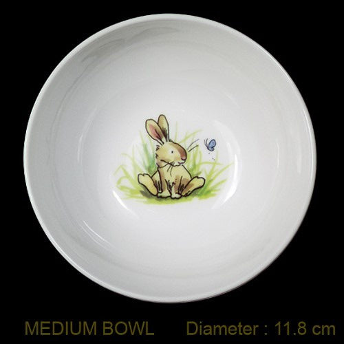 Live Wires Bowl - Rabbit with Butterfly