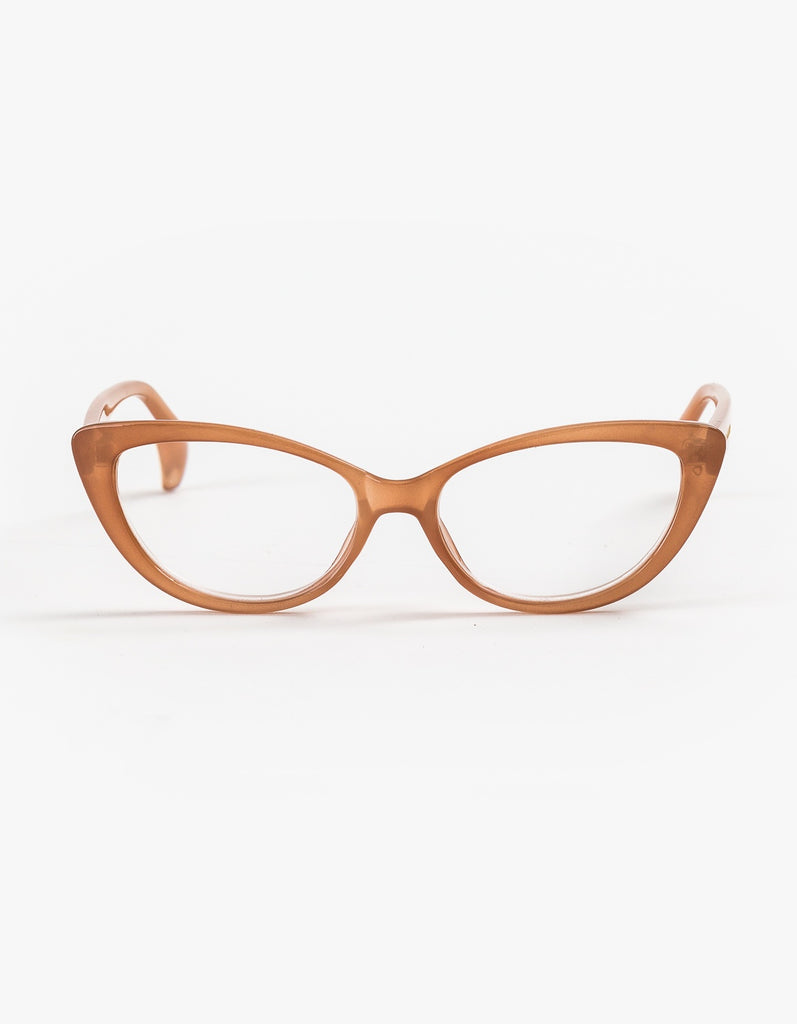 Stella + Gemma Ivy Catseye Brown Reading Glasses