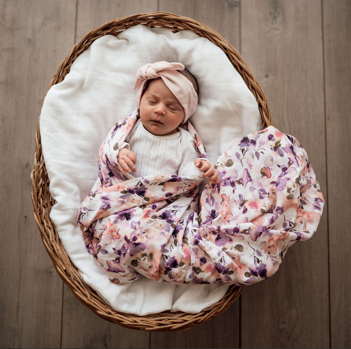 Snuggle Hunny Organic Muslin Wrap Blushing Beauty