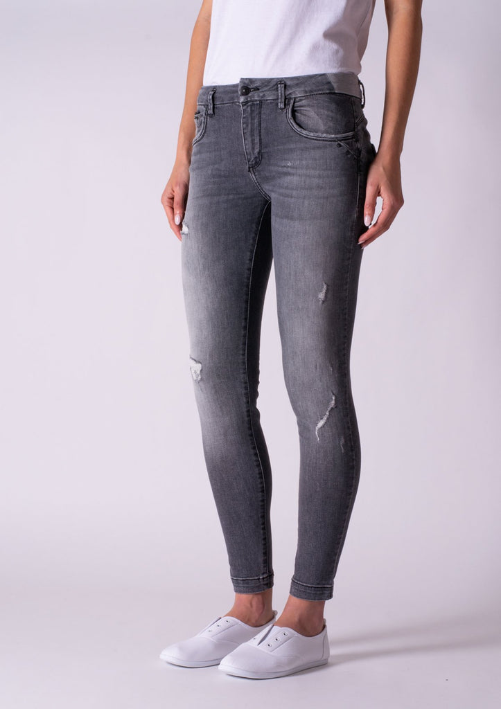 LTB Beccy Mid Rise Super Slim Jeans - Lita (Grey) Wash