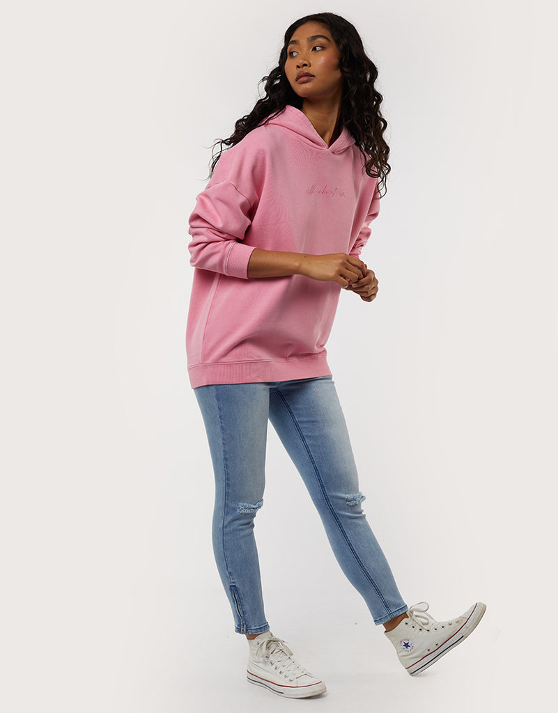 All About Eve Delux Oversized Hoodie - Rose