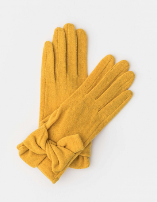 Stella + Gemma Wool Gloves Mustard