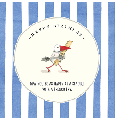 Affirmations Happy Birthday Seagull card