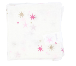 Baby Bow 3 Pack Muslin Face Washers - Star Pink