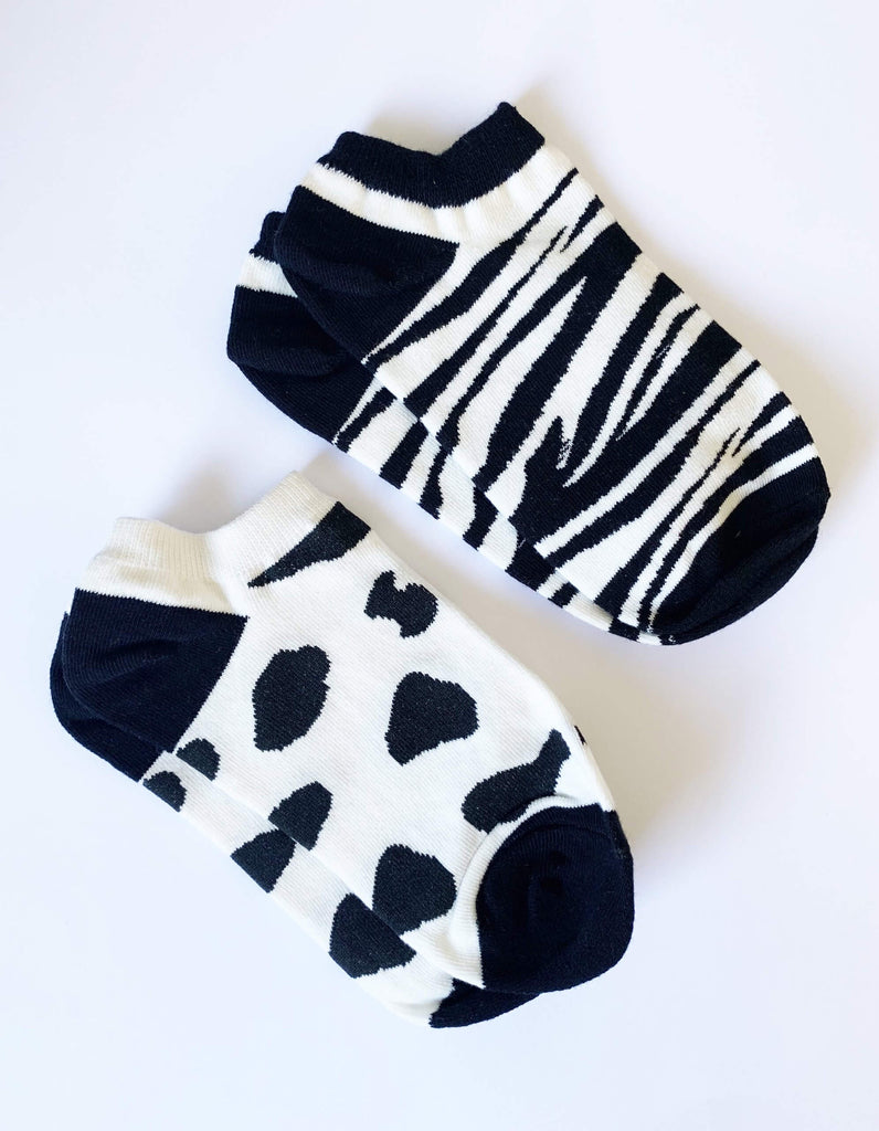 Stella + Gemma Socks Zebra / Cow Set of 2
