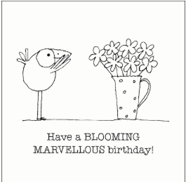 Affirmations Little Cards -Blooming Marvellous Bday