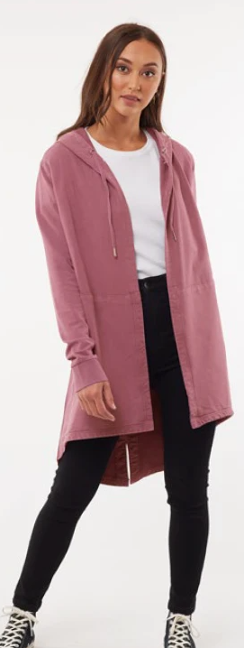 Silent Theory Ashleigh Hooded Cardi - Rose
