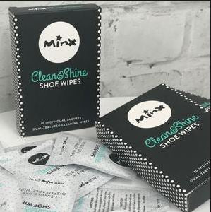 Minx Shoe Wipes (box of 10)