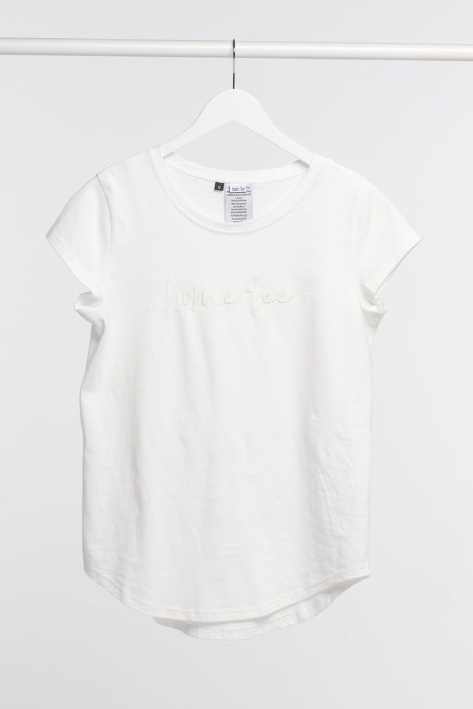 Home-Lee Tee White w Logo