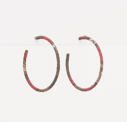 Stella + Gemma Snake Hoop Thin Earrings