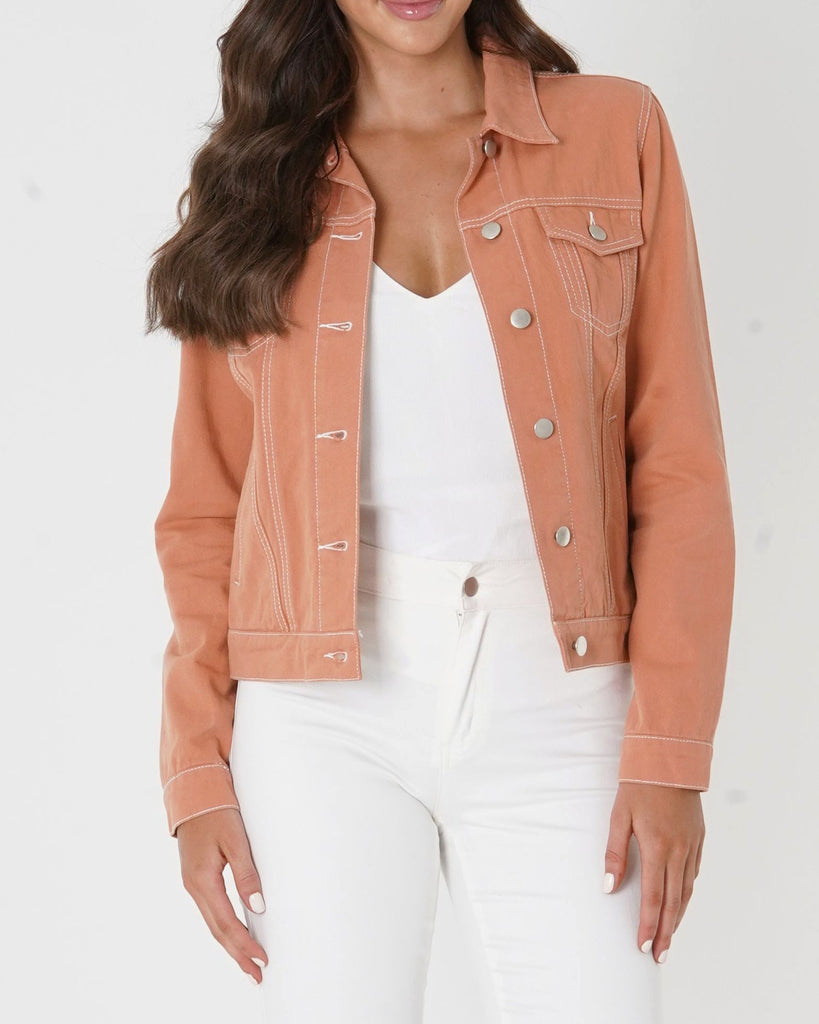 Amelius Anthem Drill Jacket - Peach