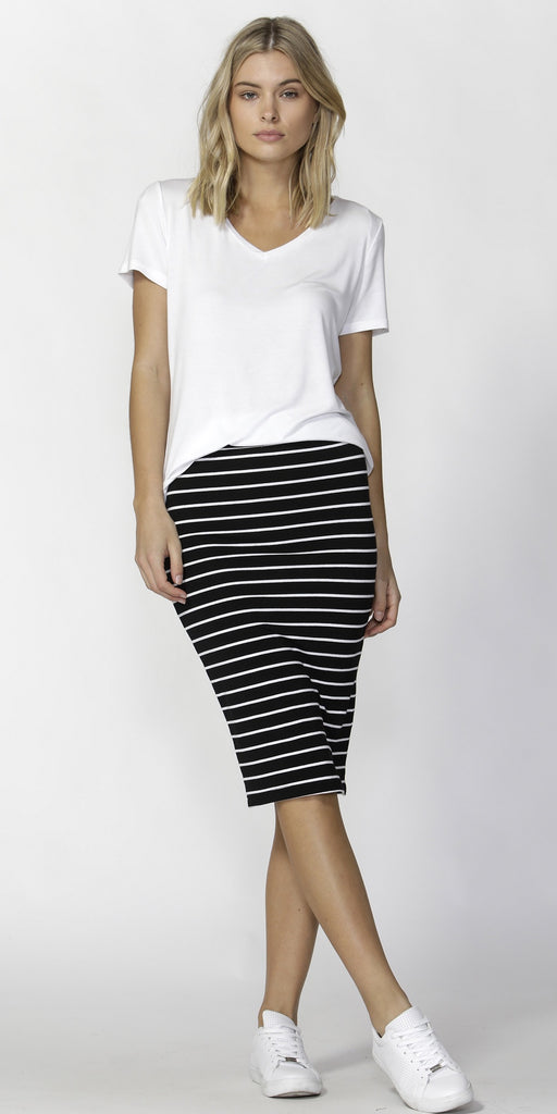 Betty Basics Striped Alicia Skirt