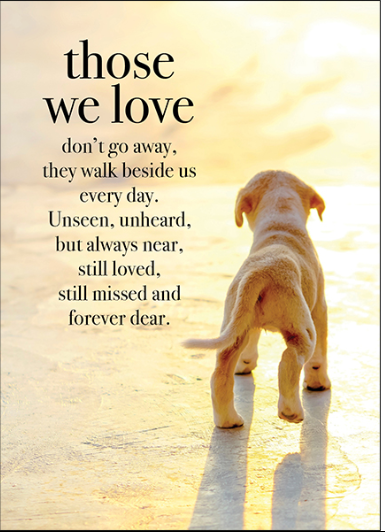 Affirmations Card - Those we love don't go away