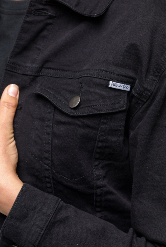 Home-Lee Classic Black Denim Jacket - Jet Black