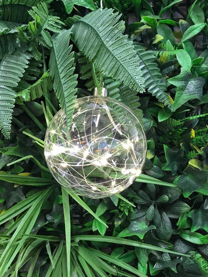 Stellar Hanging Glass Light - Silver Thread Sphere