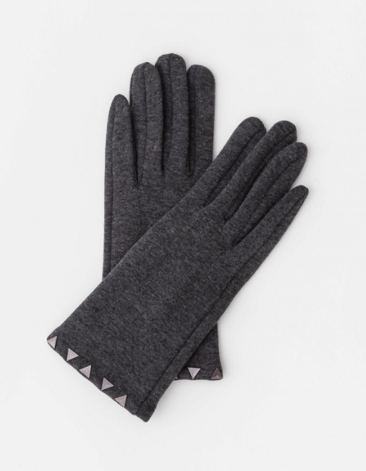 Stella + Gemma Gloves Dark Grey Stud