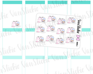 MSC 005.1| Mini sheet -pink shark and chibi girl