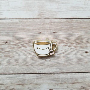 """Cu-TEA"" magnetic enamel pin"