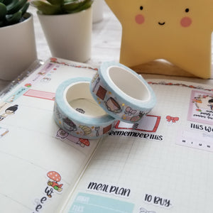 "Vanstickie ""Tea Party"" 15 mm washi tape with gold foil"
