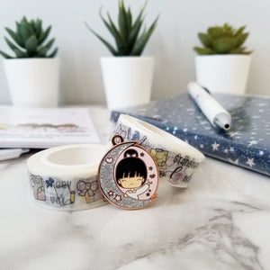 """chibi moon and starts"" charm in collaboration with xocarolyndesigns"