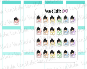 VSC 086 | Chibi Rainbow Backpacks Planner Stickers