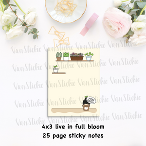 "3x4"" ""life in full bloom"" Sticky Note Pad (Notes 25 Pages)"