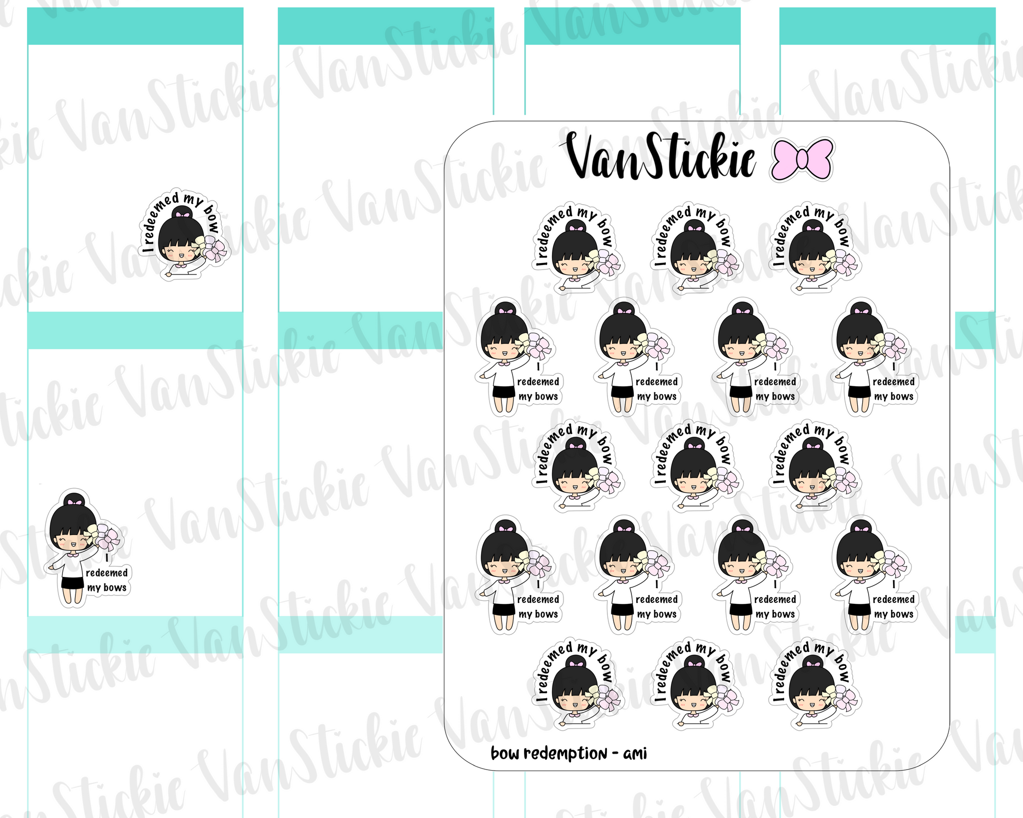VSC 088 | Chibi Bow Redemption Planner Stickers