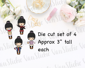 Hello Fall Chibi Die Cut Set