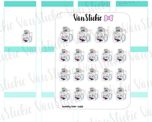 VSO 007 | Laundry Time - Ombre Haired Chibit Planner Stickers