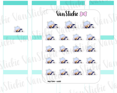 VSO 008 | Nap Time - Ombre Haired Chibit Planner Stickers